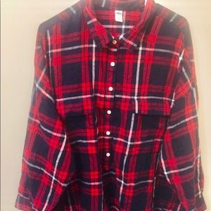 Plus size Old Navy flannel shirt